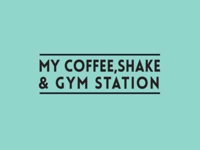 my coffee and gym station
